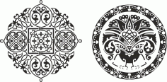 Ornamental Circkles Free CDR Vectors Art