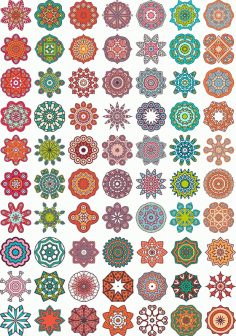 Ornamental Colorful Mandala Free CDR Vectors Art