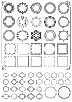 Ornamental Frames Free CDR Vectors Art