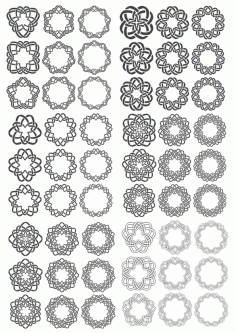 Ornamental Round Decors Free CDR Vectors Art