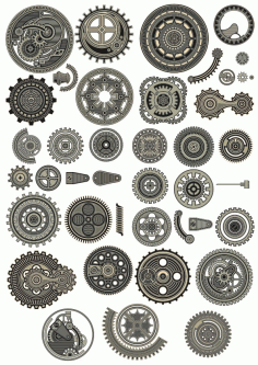 Steampunk Collection Ornament Free CDR Vectors Art