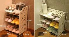 Laser Cut Shoe Basket Storage Shoe Bin Storage 3d Puzzle Free CDR Vectors Art