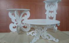 Laser Cut Cake Table Free CDR Vectors Art