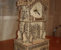 Laser Cut Carved Clock Free CDR Vectors Art