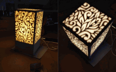 Laser Cut Lamp Night Light Free CDR Vectors Art