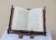 Laser Cut Book Holder Free DXF File