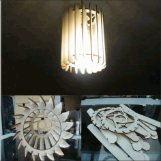Laser Cut Chandelier Lamp Free DXF File
