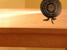 Laser Cut Drawing Kitty Lamp Markiii Free DXF File