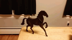 Laser Cut Horse 2mm Free DXF File