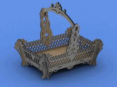 Laser Cut Korzinka (basket) Free DXF File