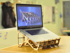 Laser Cut Laptop Stand Free DXF File