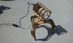 Laser Cut Laser Cut Lamp Free DXF File