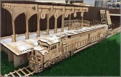 Laser Cut Locomotive Free DXF File