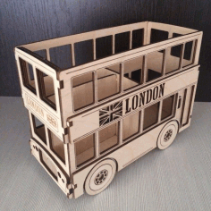 Laser Cut London Bus Free DXF File
