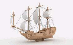 Laser Cut Pirate Ship Free DXF File