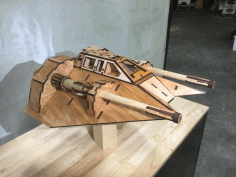 Laser Cut Snowspeeder 5mm Final Free DXF File