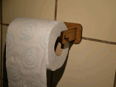 Laser Cut Toilet Paper Holder Free DXF File