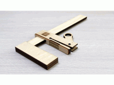 Laser Cut Wooden Bar Clamp Free DXF File