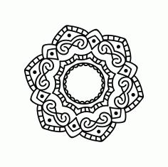 Mandala Design Ornament Free DXF File