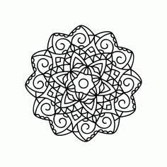 Mandala Vector Ornament Free DXF File