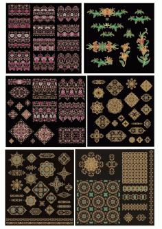 Golden Flower Mandala Decorative Elements Ornament Free CDR Vectors Art