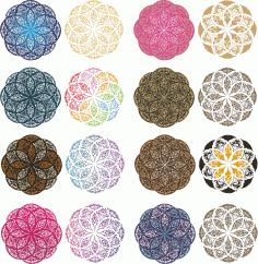 Mandala Color Set Ornament Free CDR Vectors Art