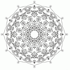 Mandala De Ornament Free CDR Vectors Art