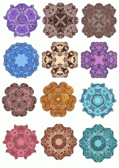 Mandala Vector Floral Mandala Set Ornament Free CDR Vectors Art