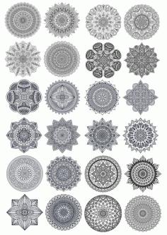 Mandala Vector Ornaments Set Free CDR Vectors Art