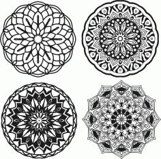 Mandalas Set Ornament Free CDR Vectors Art