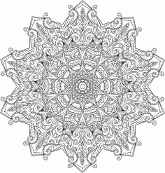 Myst Mandala Ornament Free CDR Vectors Art