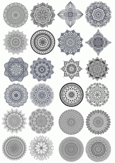 Set Of Decorative Mandala Ornament Free CDR Vectors Art