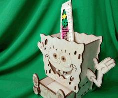 Laser Cut Spongebob Organizer Free CDR Vectors Art
