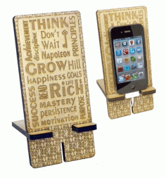 Laser Cut Stand For Smartphone 3d Puzzle Free CDR Vectors Art