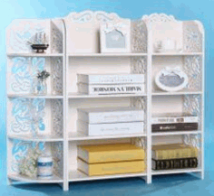 Laser Cut Storage Shelf Rack 3d Puzzle Free CDR Vectors Art