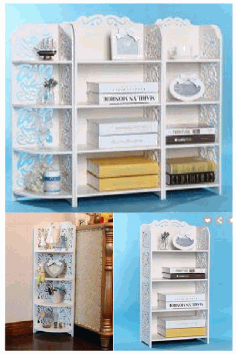 Laser Cut Storage Shelves Racks 3d Puzzle Free CDR Vectors Art