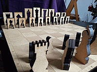 Chess Set Laser Cut Free DXF File