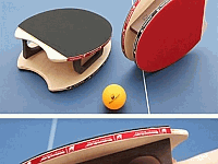 Hand Ping Pong Paddle Laser Cut Free DXF File
