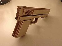 Rubber Band Gun Laser Cut Free DXF File