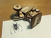 Stamp Base Laser Cut Free DXF File