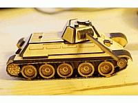 t34 Wooden Laser Cut Free DXF File