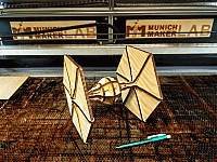 Tie Fighter Laser Cut Free DXF File