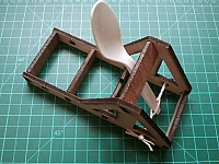 Torsion Catapult Laser Cut Free DXF File