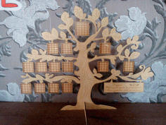 Laser Cut Tree Family Frame 3d Puzzle Free CDR Vectors Art