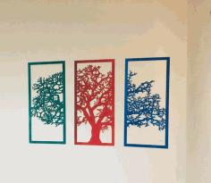 Laser Cut Wall Decor Tree 3d Puzzle Free CDR Vectors Art