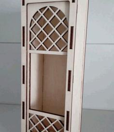 LaserCut Wine Box Free CDR Vectors Art