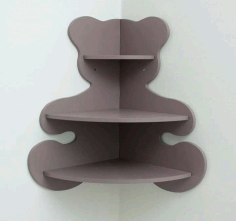 Laser Cut Wooden Corner Shelf Free CDR Vectors Art