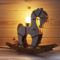 Laser Cut Wooden Parametric Horse Free CDR Vectors Art