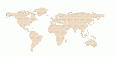 Laser Cut World Map 3d Puzzle Free CDR Vectors Art