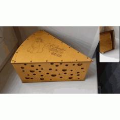 Laser Cut Cheese Box Tempalte Free CDR Vectors Art